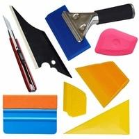 Car Window Tint Tools Kit For Auto Vinyl Film Tinting Soft Scraper 3M Suede Squeegee Car