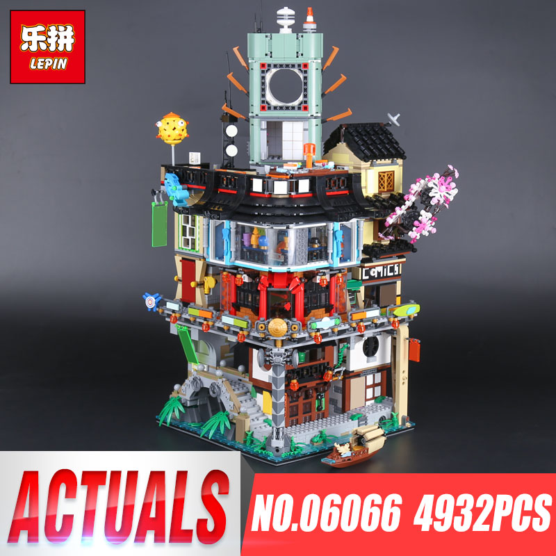 LEPIN 06066 City Construction 06066 lepin Model Building Blocks bricks kid Toys Compatible 70620 IN Stock 4932pcs by DHL new lepin 16008 cinderella princess castle city model building block kid educational toys for children gift compatible 71040