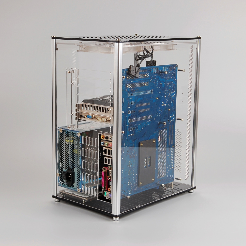 Case Pc Us 64 78 Qdiy Pc A009 Atx Transparent Computer Case Pc Case Water Cooled Acrylic Computer Case In Computer Cases Towers From Computer Office On