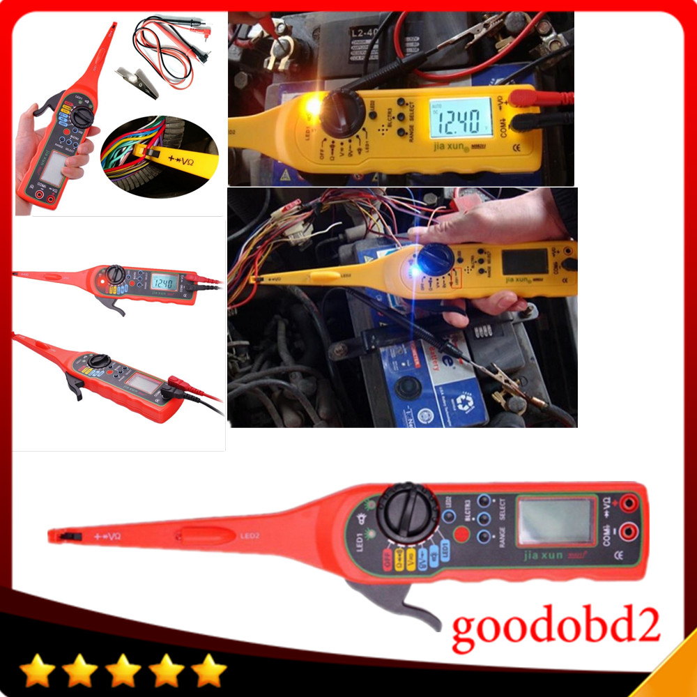 Auto Circuit Tester Multimeter Lamp Car Repair Tool 0v 380v New 6v 12v Electrical Garage Equipment Light Electricity Detector And Lighting 3 In 1 Yellow Colour