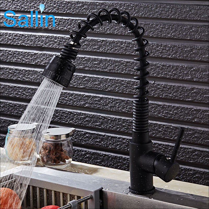 High Quality Black Bronze Kitchen Faucet Pull Down&Out Swivel Spring Mixer Tap Kitchen Sink Faucet Cold&Hot Water TapHigh Quality Black Bronze Kitchen Faucet Pull Down&Out Swivel Spring Mixer Tap Kitchen Sink Faucet Cold&Hot Water Tap