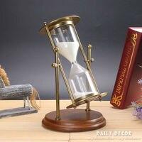 מסתובב 30/15 דקות שעון חול טיימר חול מתכת עתיקה Flip שעון חול שעה temporizador דה Reloj דה זירה areia Ampulheta