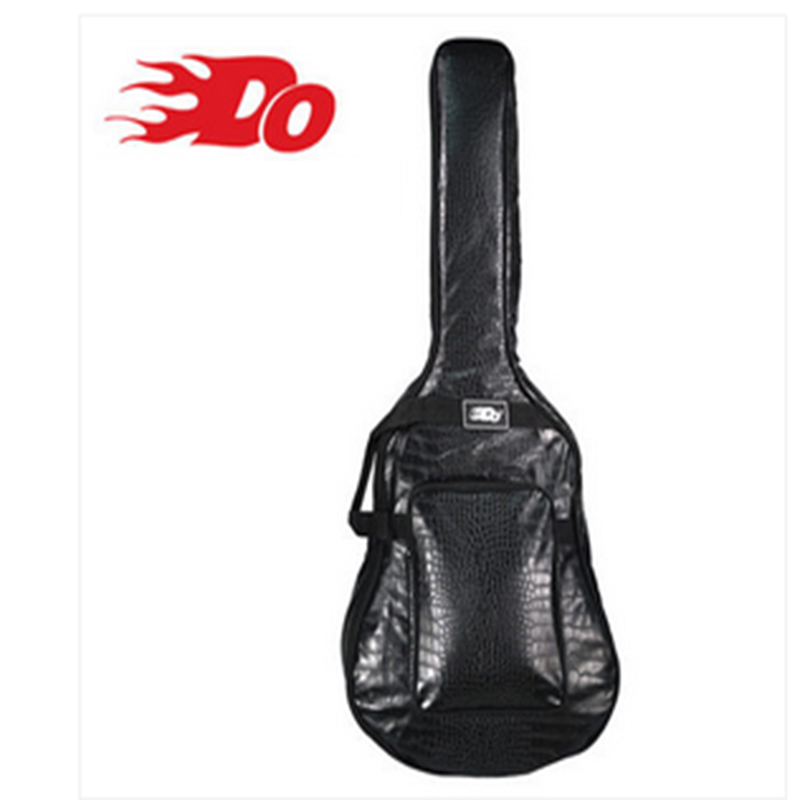DO guitar bag 40 inch 41 inch ballad guitar package personalized leather thick waterproof shoulder guitar bag bag backpack 12mm waterproof soprano concert ukulele bag case backpack 23 24 26 inch ukelele beige mini guitar accessories gig pu leather