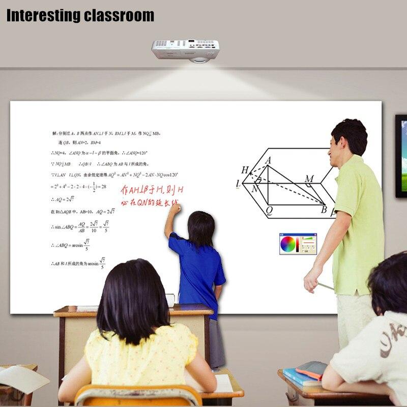 Оптическая инфракрасная Магическая электронная интерактивная белая доска с поддержкой проекционного экрана размером 40-150 дюймов с одной ИК-ручкой