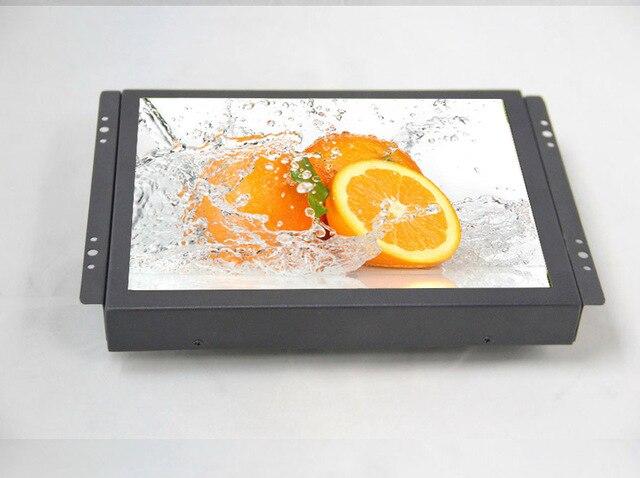 ZHIXIANDA/10 дюйма Открытой Рамки Промышленного монитор/металл монитор с USB/VGA/AV/BNC/HDMI монитор