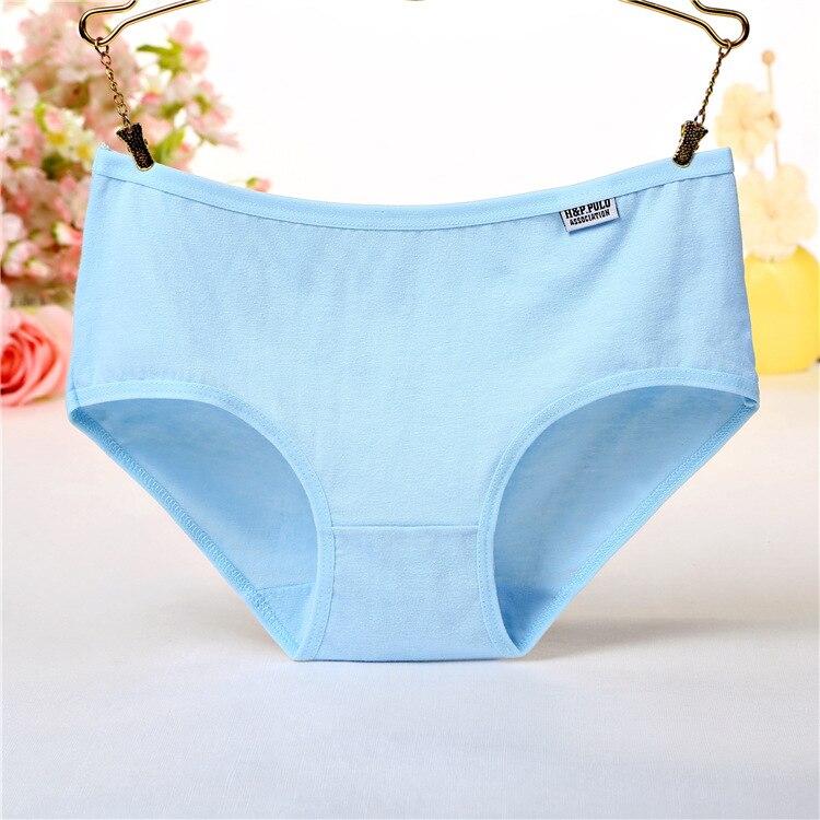 Summer Solid Women Cotton Panties Underwear for Women Plus Girls Kawayi Lovely Student Low-rise Underwear Cute New