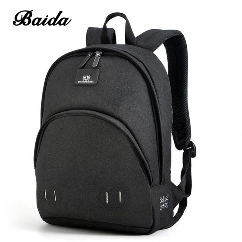 BAIDA Cute Pig Nose Unisex Backpack Fashion Women School Bags Solid Casual Travel Daybags Backpacks Girls Boys Teens Rucksack