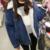 2016 de Lã De Inverno mulheres Jaqueta Jeans Denim Engrossar a lã cordeiros jaqueta jeans Engrossar Aquecimento Outerwear mulheres jaqueta jeans