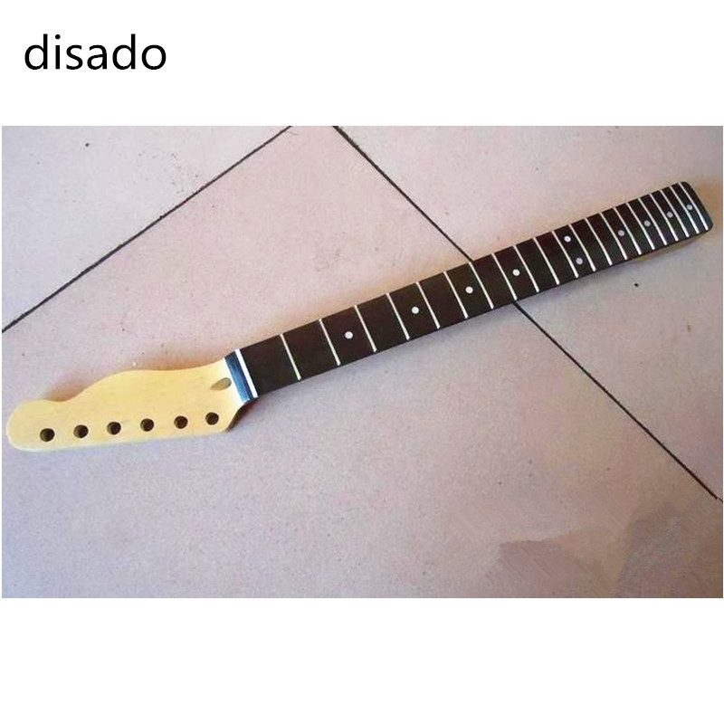 disado 21 Frets inlay dots Rosewood fingerboard maple Electric Guitar Neck Guitar Parts accessories can be customized two way regulating lever acoustic classical electric guitar neck truss rod adjustment core guitar parts