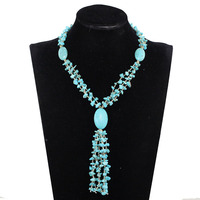 New Sky Blue Fashion Natural Stone Fashionable African Beads Jewelry Sets Jewelry For Women Free Shipping