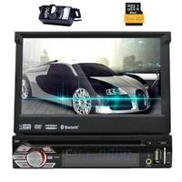 7 Single 1 DIN Car CD DVD Player GPS Navigation Bluetooth HD Touch Stereo Radio Autoradio ipod USB SD Logo+Free Camera+8GB MAP