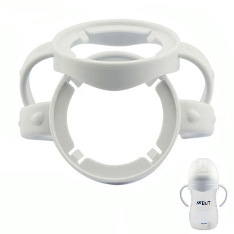 Infant Grip Handle For Avent Natural Wide Mouth PP Glass Feeding Baby Bottle  2 Pieces/lot  Free Shipping