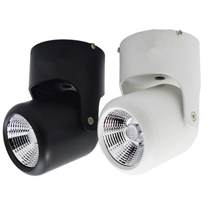 New Arrival! 10W 20W COB Led Downlights Surface Mounted Ceiling Spot Light 180 Degree Rotation Ceiling Downlight AC85-265V