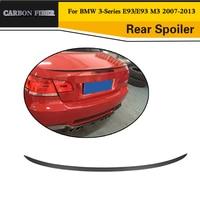 Carbon Fiber Rear boot lip Car Rear Wing spoiler For BMW E93 325 328 330 335 2007 2013