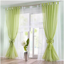 Meijuner 1PC Tulle Curtains White Window Screening Solid Door Sheer Drape For Living Room Party Home Decor