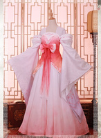 Anime Vocaloid Miku Luka Luo Tianyi Peach Blossom Chinese Style Dresses Cosplay Costume F