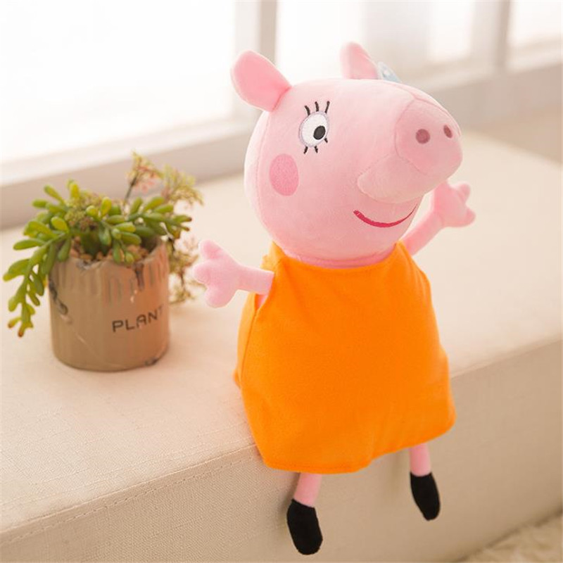 25 CM Anime Peppa Pig George Peppa Family Plush Toys Baby Pet Doll Soft Stuffed Toys Birthday Gifts For Children 3