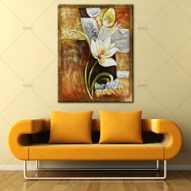 flower picture Large Modern Abstract flower Oil Painting Canvas wall ...