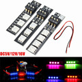 DC5V/12V/16V RGB 7 Colors 5050 SMD Strip Night Light LED Board With DIP Switch For FPV 250 With Power Cord