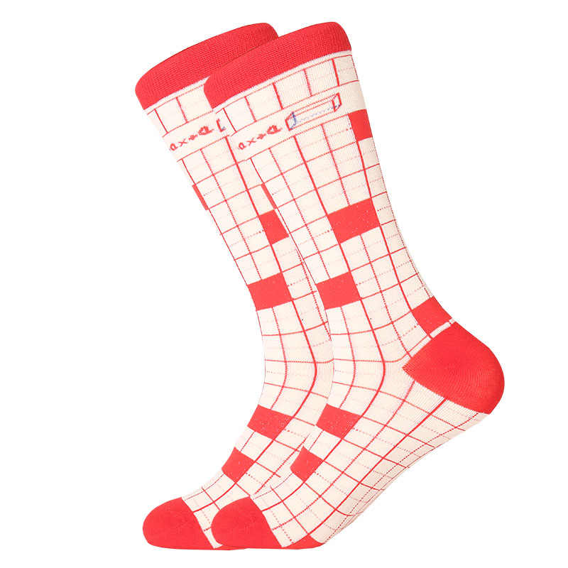1 คู่ฤดูหนาว-ฤดูใบไม้ผลิ Happy ถุงเท้าผ้าฝ้าย 2019 ผู้ชายลูกเรือสเก็ตบอร์ดถุงเท้าตลกถุงเท้าจัดงานแต่งงานตกแต่งของขวัญของขวัญ