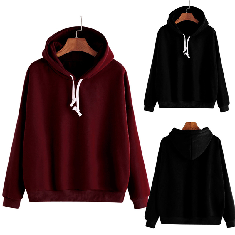 19 Autumn Women Hoodie Casual Long Sleeve Hooded Pullover Sweatshirts Hooded Female Jumper Women Tracksuits Sportswear Clothes 2