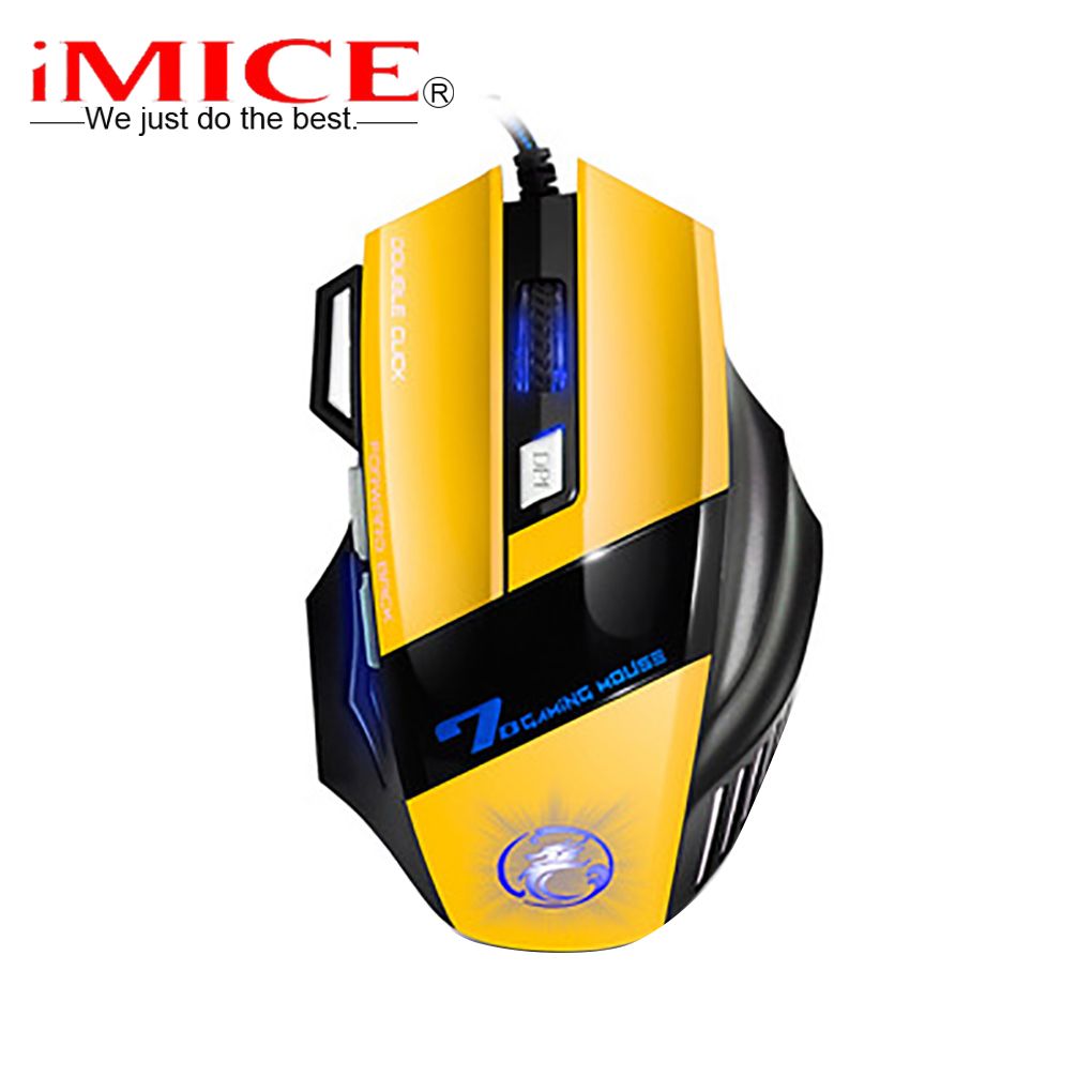 iMICE X7 Double Click 7 Buttons USB Wired Optical Computer Game Mouse Respiratory LED Backlight Gaming Mice