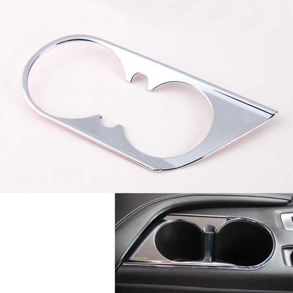 Auto Car Interior Front Water Bottle Cup Trim Holder Frame Decal Cover Sticker ABS Fit For Chevrolet Camaro 2017 Car Styling auto chrome camaro letters for 1968 1969 camaro emblem badge sticker