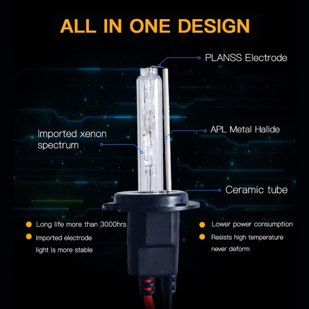1 Set AC 55W H7 Xenon Lampa H1 H3 H4 H11 H8 H9 9005 9006 881 D2S HID - Avtomobil işıqları - Fotoqrafiya 2
