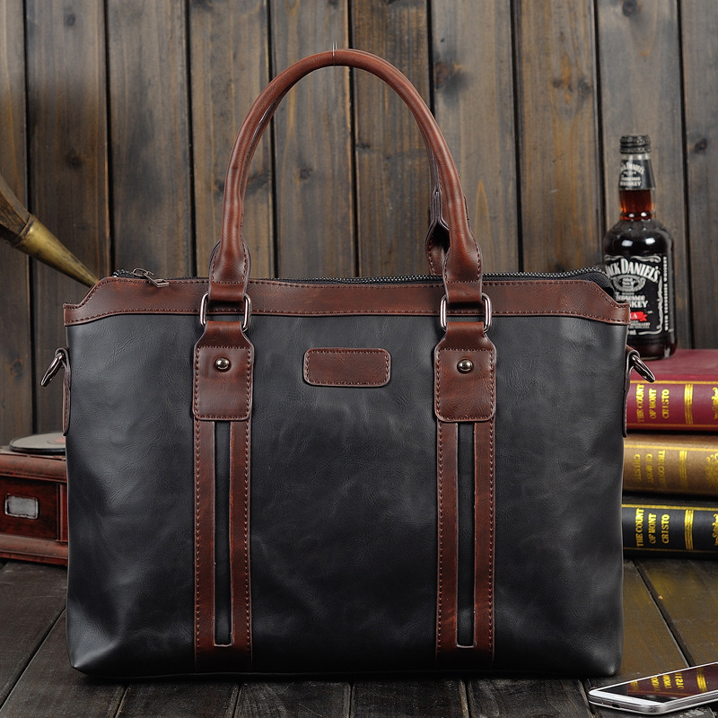 01389a9a28a6 Man Horizontal Top Leather bag Men Messenger Business Men s Briefcase  Designer Handbags High Quality Shoulder Bags-in Top-Handle Bags from Luggage    Bags on ...