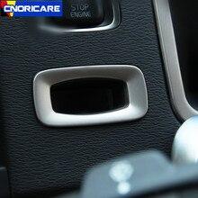 Ключа автомобиля отверстие рамка украшения чехол накладка для Volvo S60 V60 Нержавеющаясталь авто аксессуары для интерьера