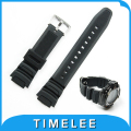 New Mens Military Black Silicone Rubber waterproof Strap  for casio SGW-300H SGW-400H Driving Sport Watch Accessori