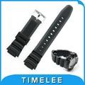 Nova mens preto militar pulseira de borracha de silicone à prova d' água para casio sgw-300h sgw-400h condução esporte relógio accessori