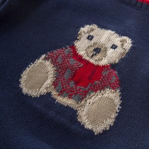 Image 4 - DB5905 דייב bella סתיו תינוקות תינוק בני חיל הים דוב בסוודרים סוודר ילדים יפה ילדי פעוט סרוג סוודר
