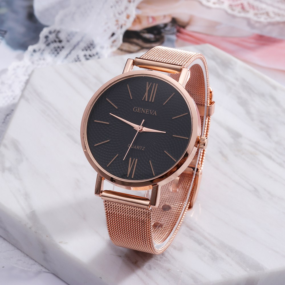 2018 NEW Luxury Women Fashion Clocks Quartz Watches Rose Gold Stainless Steel Dress Watches Montre Femme Wristwatch for Female