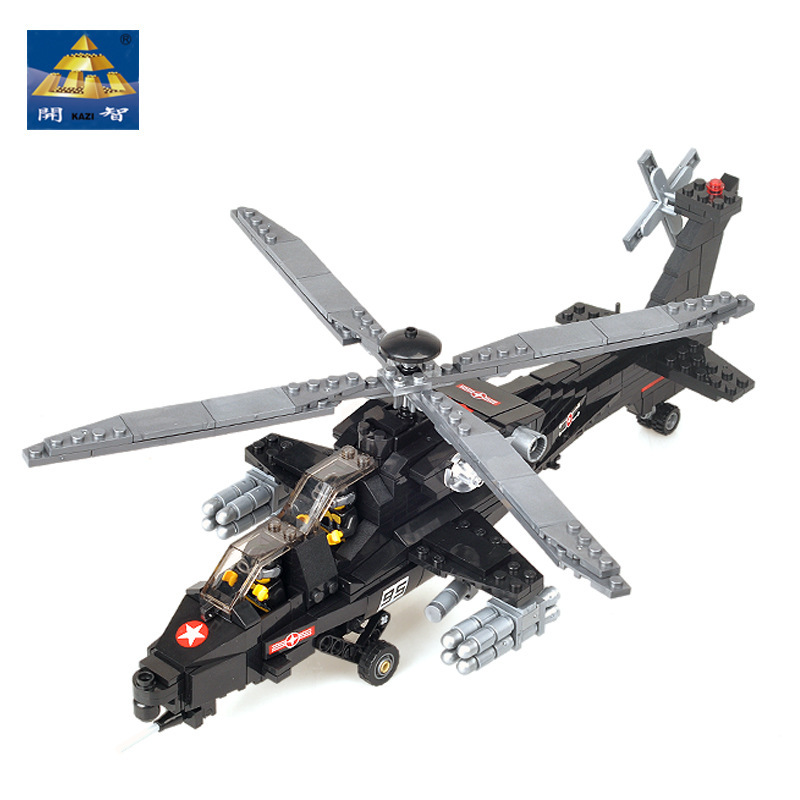 KAZI Military Helicopter Blocks 480pcs Bricks Building Blocks Sets Education Toys For Children 2017 kazi 98405 wz 10 military helicopter blocks 480pcs bricks building blocks sets enlighten education toys for children