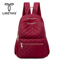 LIKETHIS 2019 New Backpack Multifunction Waterproof Women School Bag Rucksack Travel Bags Mochil Design Bagpack Female