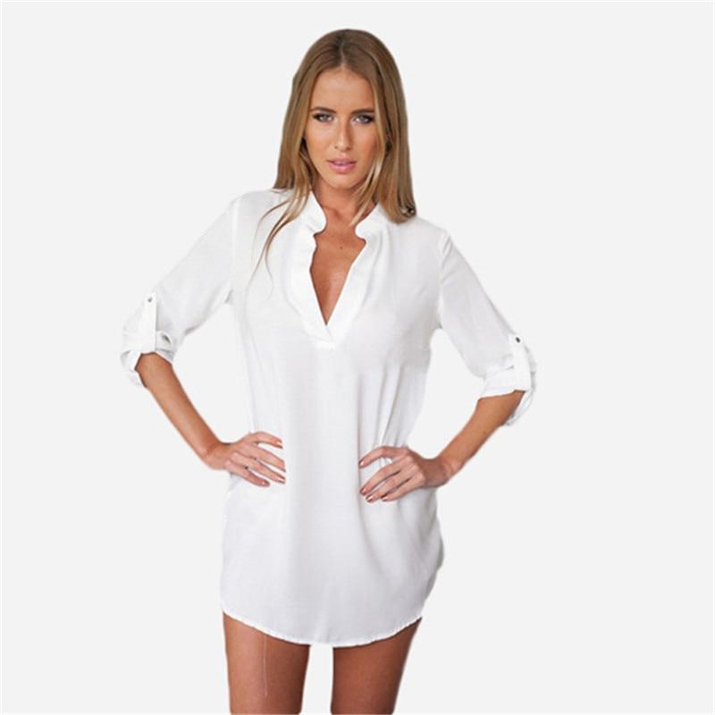 2015 Blusas Y Camisas de Mujer barato vestir nuevas