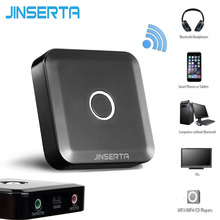 JINERTA 3.5mm Bluetooth 4.0 Receiver Transmitter 2-in-1 Stereo Music Audio Bluetooth Adapter for Smart Phone TV PC Headphones