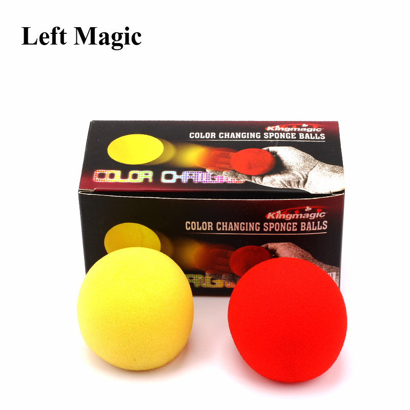 2 Pcs/ Set Color Change Sponge Ball Magic Tricks Fun Super Soft Sponges Changing Ball Square Close Up Magic Stage Magic Props