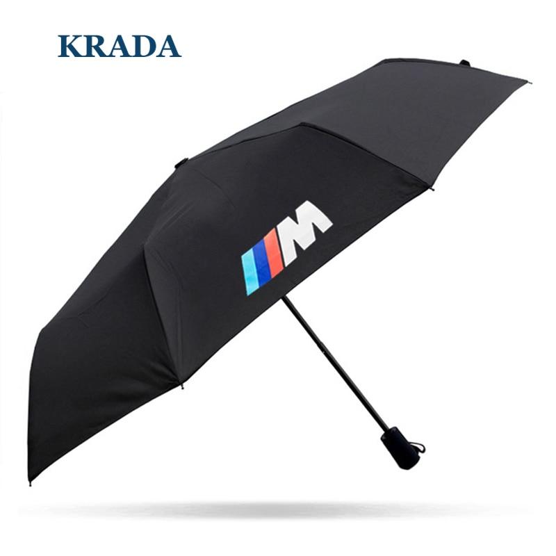 Car stlying For BMW m emblem E46 E60 E90 E30 E92 E93 F30 F10 E36 E39 F15 F16 E85 E86 E34 E38 E53 X5 X3 M3 M5 Folding Umbrella