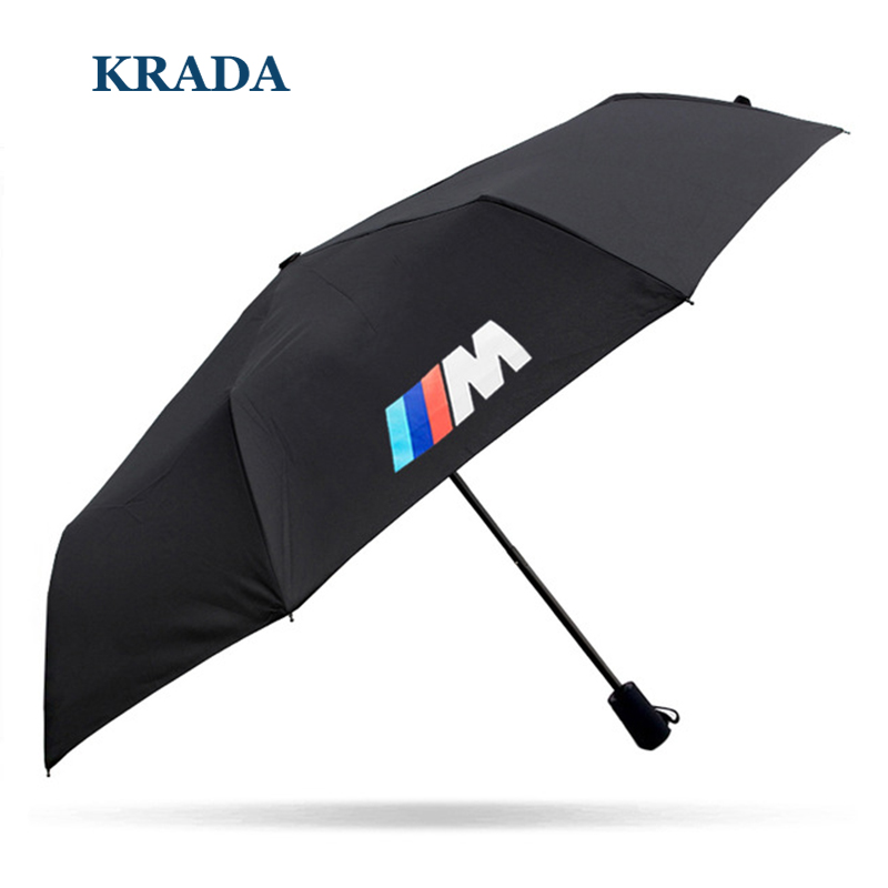 Car stlying For BMW m emblem E46 E60 E90 E30 E92 E93 F30 F10 E36 E39 F15 F16 E85 E86 E34 E38 E53 X5 X3 M3 M5 Folding Umbrella
