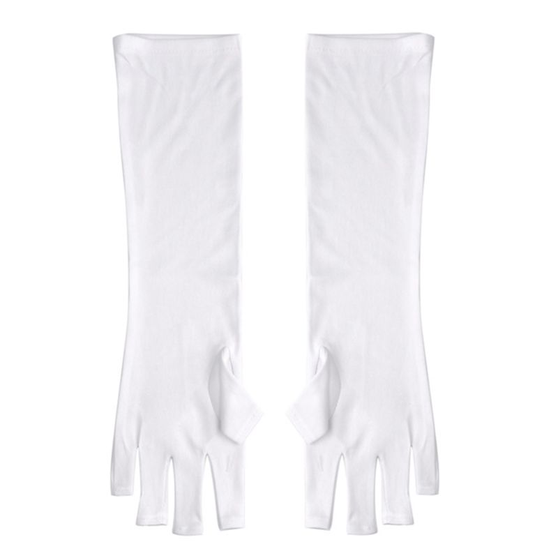 1 Pair Anti UV Fingerless Protection Gloves Mittens For Gel Polish Manicure Under UV Nail Art Drying Lamp Lights Hand Care Tools