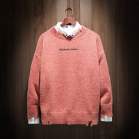 Slim Sweater Autumn Winter Mens Sweaters Solid Color Class Style Knitwear O Neck Top Quality Sweaters