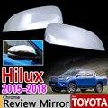 Für Toyota Hilux 2015 2018 Chrom Rückspiegel Abdeckung Trim Set 2 Pc Hilux Revo 2016 2017 AN120 AN130 Zubehör Auto Styling-in Chrom-Styling aus Kraftfahrzeuge und Motorräder bei