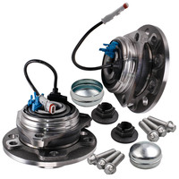 Pair for Opel Vauxhall Astra 04 09 Front Wheel Bearing Hub Kit ABS Sensor 5 Stud 13110964, 1603254, 93178652 713644320 753628