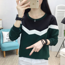 shintimes Hit The Color Patchwork Women Sweatshirt Hoodies Plus Size Sudadera Mujer 2019 Bts Sleeve Womens Clothing Sweat Femme