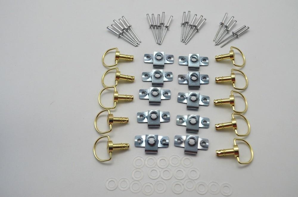 10 conjuntos de liberação rápida da motocicleta D-RING 1/4 volta corrida carenagem fixadores rebite 17mm
