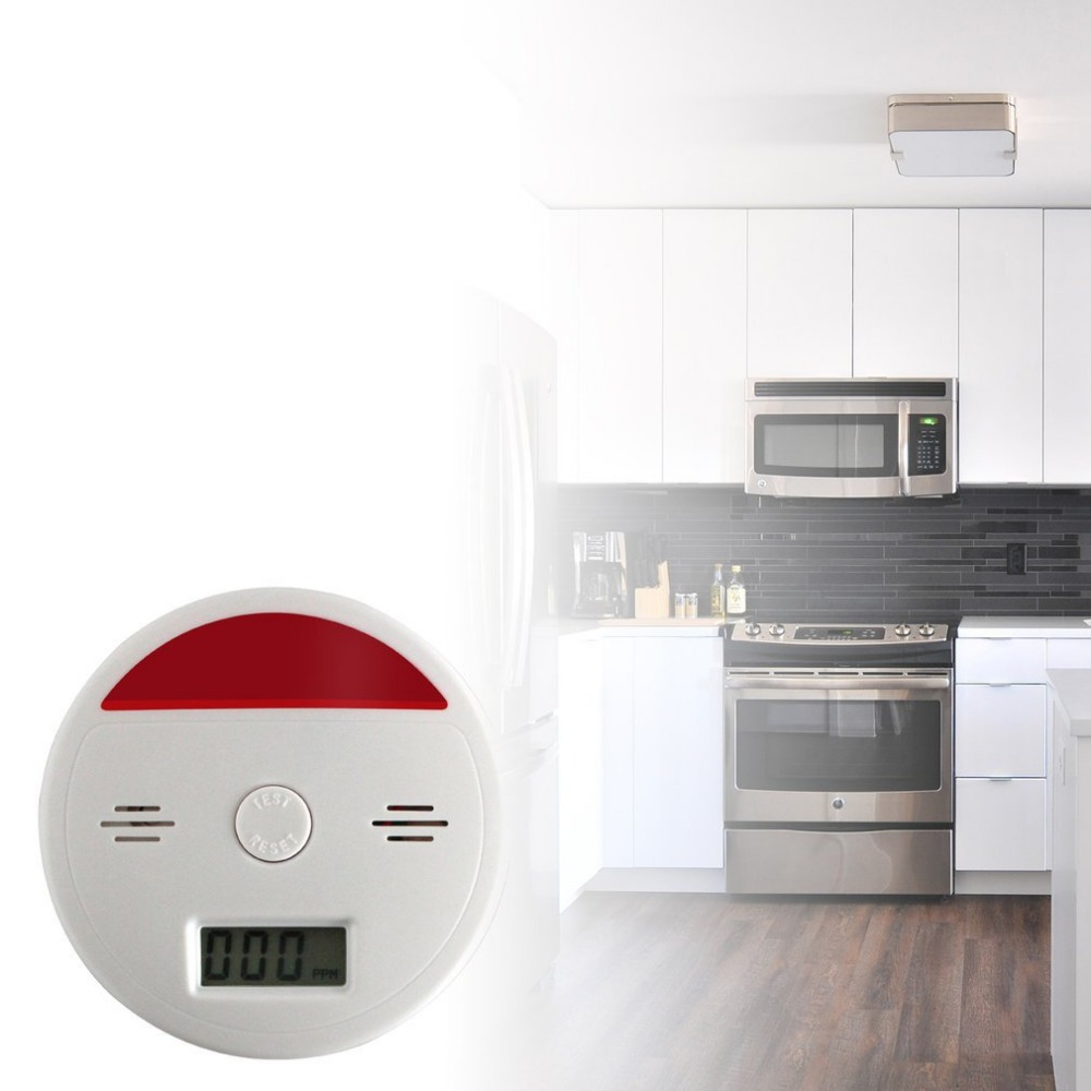 ACJ4 Independent Carbon Monoxide Detector Alarm System Fire Protection Alarm DetectorACJ4 Independent Carbon Monoxide Detector Alarm System Fire Protection Alarm Detector