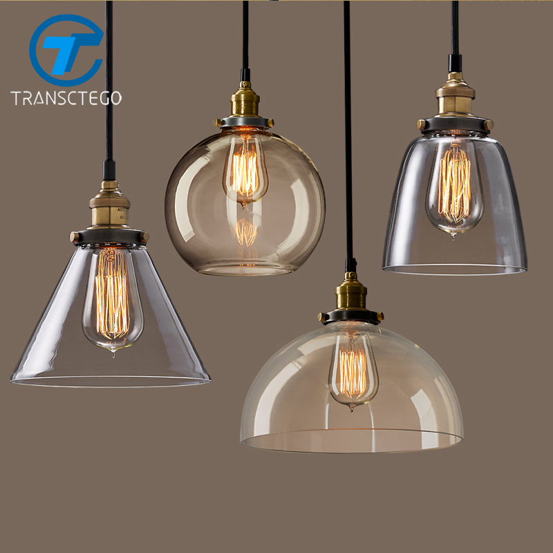 TRANSCTEGO Pendant Lamp with a personality of the glass pendant light bar dining room the living room lamps