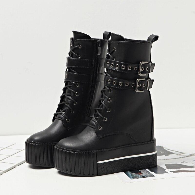 Courtes Single Boucles 2018 Talon Femmes Bottes D'hiver Plus Fond Bottines Épais black Black Augmenté Velvet Automne Et De Haute Super FqYrtaq